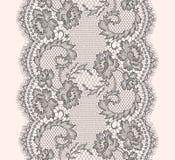 Modello di Gray Lace Ribbon Vertical Seamless Fotografia Stock Libera da Diritti