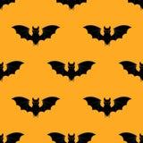 Modello di Halloween con i pipistrelli Priorità bassa senza giunte di Halloween Illustrazione felice di concetto di Halloween Fotografia Stock