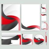 Modello di identità corporativa con gli elementi di colore Stile di affari della società di vettore Immagini Stock