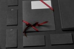 Modello di identità di marca Insieme corporativo in bianco della cancelleria Fotografie Stock Libere da Diritti