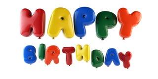 Modello di impulsi del testo di buon compleanno - i percorsi risparmiano fotografie stock