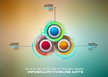 Modello di Infograph con le scelte multiple e molti elementi e modelli infographic di progettazione Immagini Stock Libere da Diritti