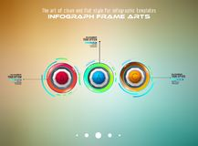 Modello di Infograph con le scelte multiple e molti elementi e modelli infographic di progettazione Immagine Stock