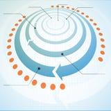 Modello di Infographic Fotografia Stock Libera da Diritti