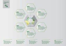 Modello di Infographic Fotografie Stock