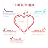 Modello di Infographic con cuore Fotografia Stock Libera da Diritti