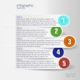 Modello di Infographic con le etichette blu illustrazione vettoriale