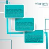 Modello di Infographic con le etichette blu royalty illustrazione gratis