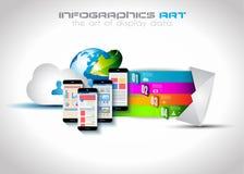 Modello di Infographic con le icone piane di UI per il posto del ttem illustrazione vettoriale