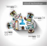 Modello di Infographic con le icone piane di UI per il posto del ttem Immagini Stock Libere da Diritti