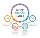 Modello di Infographic con quattro opzioni Fotografie Stock Libere da Diritti
