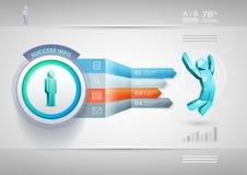 Modello di Infographic della freccia di prospettiva Fotografia Stock