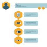 Modello di Infographic di cronologia blu e giallo Immagini Stock Libere da Diritti