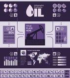 Modello di Infographic di industria petrolifera Fotografia Stock