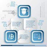 Modello di Infographic di istruzione Fotografia Stock Libera da Diritti