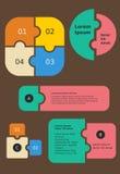 Modello di Infographic di puzzle royalty illustrazione gratis