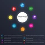 Modello di Infographic, effetto di semitono Fotografie Stock