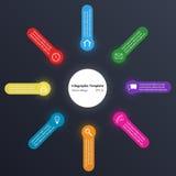 Modello di Infographic, effetto di semitono Immagini Stock Libere da Diritti