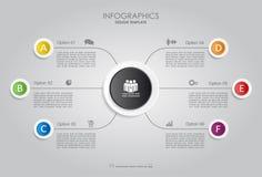 Modello di Infographic Illustrazione di vettore Fotografia Stock