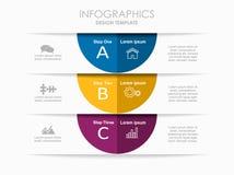Modello di Infographic Illustrazione di vettore Immagine Stock
