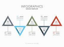 Modello di Infographic Illustrazione di vettore Può essere usato per la disposizione di flusso di lavoro, il diagramma, le opzion Immagine Stock