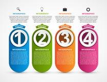 Modello di Infographic per l'insegna di presentazioni o di informazioni di affari illustrazione di stock