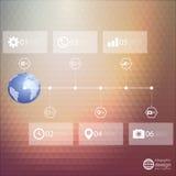 Modello di Infographic per progettazione di affari, triangolo Fotografie Stock