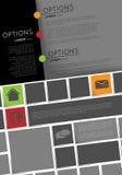Modello di Infographic, progettazione dell'aletta di filatoio Immagine Stock