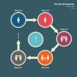Modello di Infographic, relazione Immagini Stock