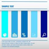 Modello di Infographic in tonalità del blu illustrazione di stock