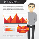 Modello di Infographics Fotografia Stock Libera da Diritti