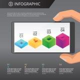 Modello di Infographics Fotografie Stock Libere da Diritti