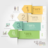 Modello di infographics della freccia di affari Immagini Stock