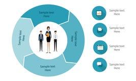 Modello di infographics di affari Immagini Stock