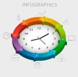 Modello di infographics di affari Fotografie Stock Libere da Diritti