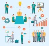 Modello di infographics di inizio di affari Fotografia Stock