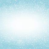 Modello di inverno con i fiocchi di neve Fotografie Stock