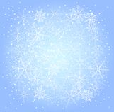 Modello di inverno dei fiocchi di neve royalty illustrazione gratis
