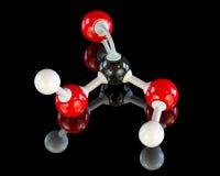 Modello di istruzione di una molecola dell'acido carbonico fotografia stock libera da diritti