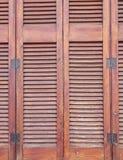 Modello di legno degli otturatori Fotografia Stock