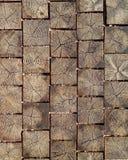 Modello di legno del mattone Fotografie Stock Libere da Diritti