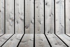 Modello di legno del pannello di beige-Brown di vecchio lerciume con il dettaglio dello scaffale, gra Fotografia Stock Libera da Diritti