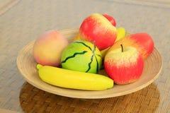 Modello di legno della frutta Immagini Stock
