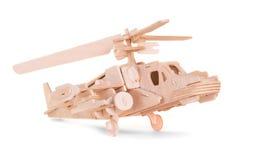 Modello di legno di un elicottero Fotografia Stock Libera da Diritti