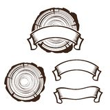 Modello di legno di logo del lavoro royalty illustrazione gratis