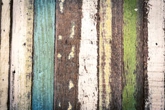 Modello di legno nella striscia verticale, tono d'annata Immagini Stock