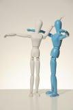 Modello di legno umano Fotografia Stock Libera da Diritti