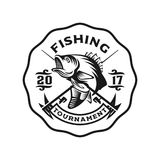 Modello di logo di colpo di pesca bassa Immagini Stock