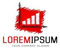 Modello di logo, contabilità, attività bancarie, successo, arte dell'affare Fotografia Stock Libera da Diritti