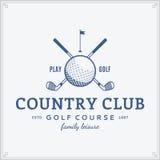 Modello di logo del country club di golf Immagine Stock